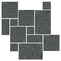Shanxi Black Flamed Small Versailles Pattern Granite Floor Tile