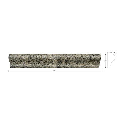Mountain Green Martel Granite Wall Tile Trim - 12 in