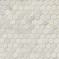 Royal White Polished Hex 1 x 1 in