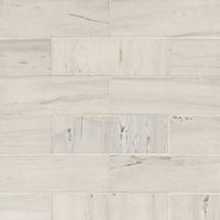 Royal Satin White Marble Subway Tile - 4 x 12 in.