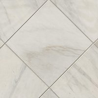 Royal Satin White Marble Wall and Floor Tile - 12 x 12 in