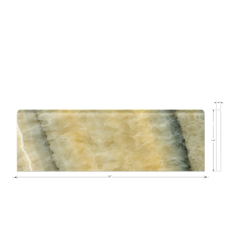 Honey Onyx Medley Bullnose 12 in
