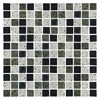 Sierra Mosaic Mix Granite Mosaic Tile - 0.75 x 0.75 in.