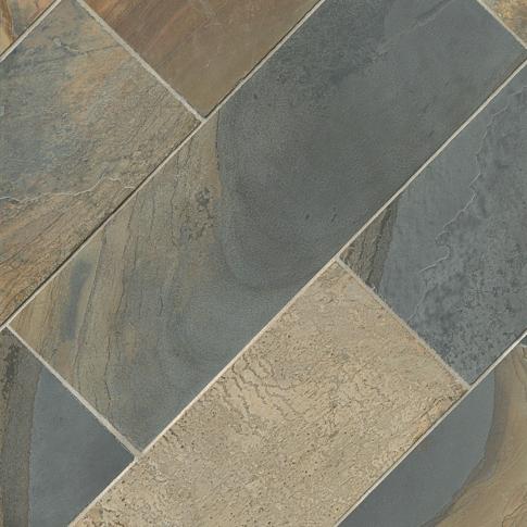 Mongolian Desert Slate Floor Tile - 8 x 24 in.