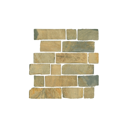 Mongolian Desert Brick Mosaic Wall and Floor Tile - 12 x 12 in