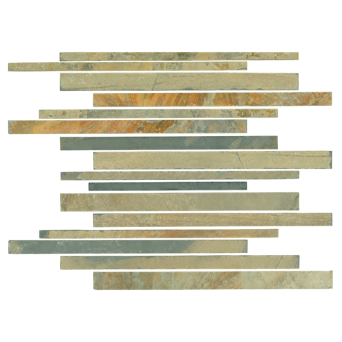 Mongolian Desert Corinth Slate Mosaic Wall and Floor Tile - 12 x 12 in
