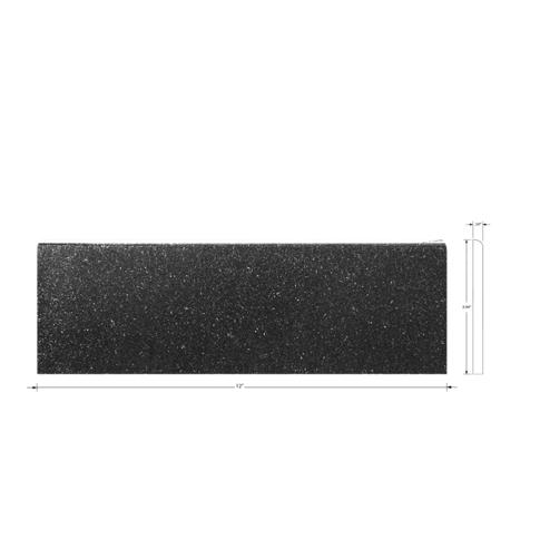 Shanxi Black Bullnose Granite Wall Tile - 4 x 12 in.