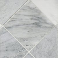 Hampton Carrara Polished Marble Floor Tile - 12 x 12 in.