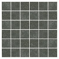 Shanxi Black Flamed Granite Mosaic Tile - 2 x 2 in.