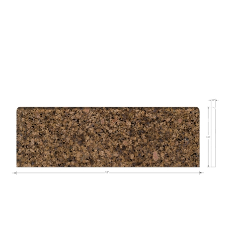 Jalor Cafe Bullnose Granite Wall Tile Trim - 4 x 12 in