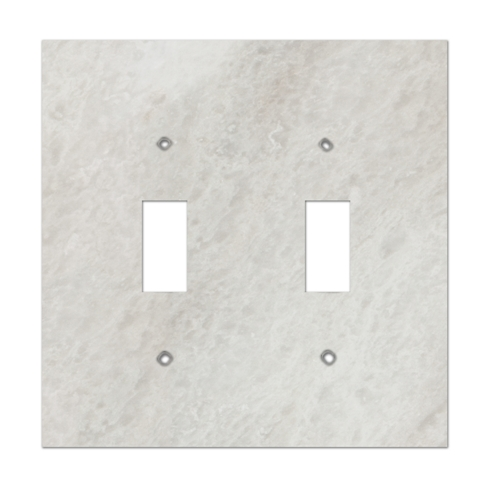 Meram Blanc Double Toggle Marble Switch Plate
