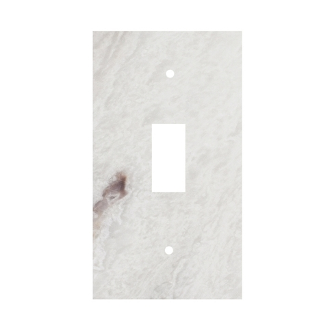 Meram Blanc Toggle Marble Switch Plate