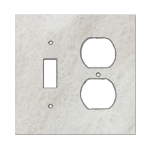 Meram Blanc Toggle/Duplex Marble Switch Plate