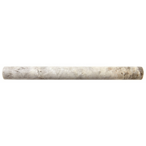 Claros Silver Pepin Travertine Wall Tile Trim - 12 in