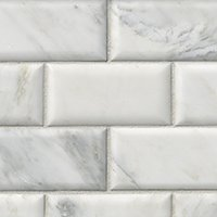 Hampton Carrara Pillowed Marble Subway Tile - 3 x 6 in.