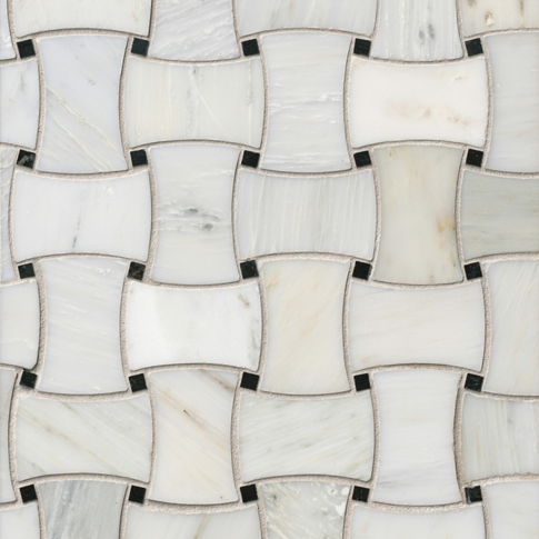 Hampton Delray Marble Mosaic Wall and Floor Tile - 10 x 10 in