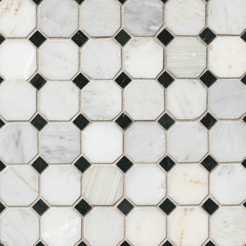 Hampton Evanston Mosaic Wall and Floor Tile - 12 x 12 in