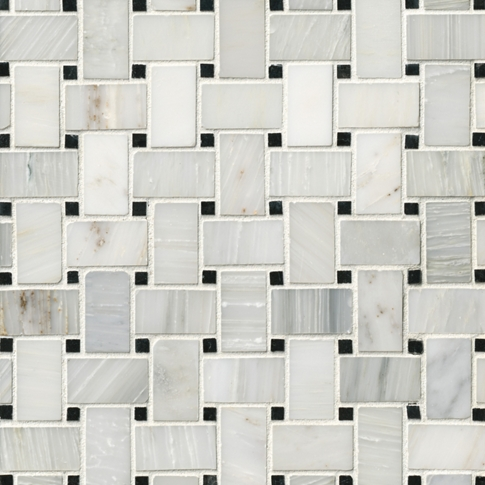 Hampton Niles Marble Mosaic Wall and Floor Tile - 12 x 12 in