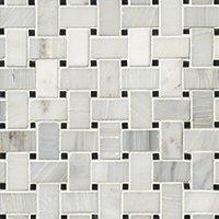 Hampton Niles Marble Mosaic Tile - 12 x 12 in.