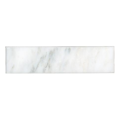 Devonshire Carrara Polished Bullnose 2 x 8 in
