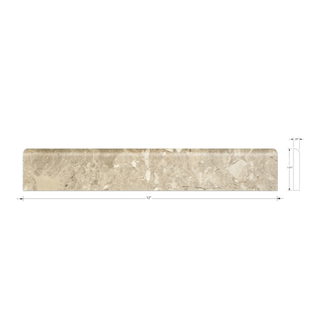 Royal Amber Polished Bullnose 2 x 12 in