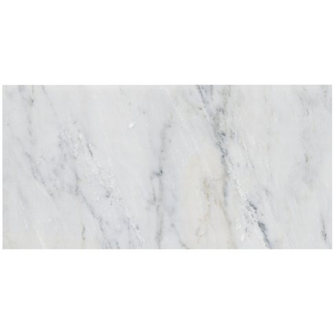 Hampton Carrara Polished Marble Wall and Floor Tile - 12 x 24 in