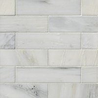 Hampton Carrara Polished Marble Subway Tile - 2 x 8 in.