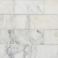 Hampton Carrara Polished Marble Subway Tile - 3 x 6 in.