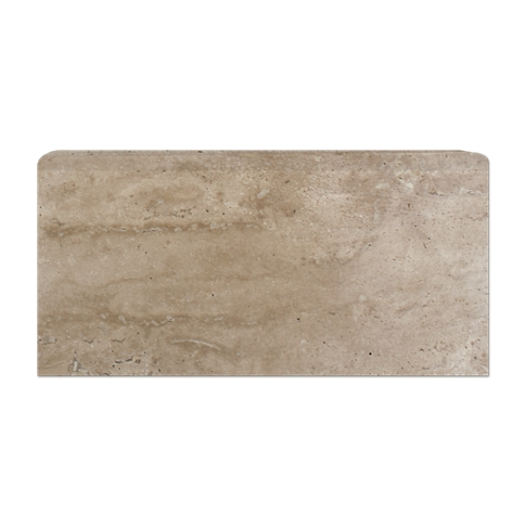 Veracruz Polished REL Single Bullnose Long Side Travertine Wall Tile Trim - 3 x 6 in