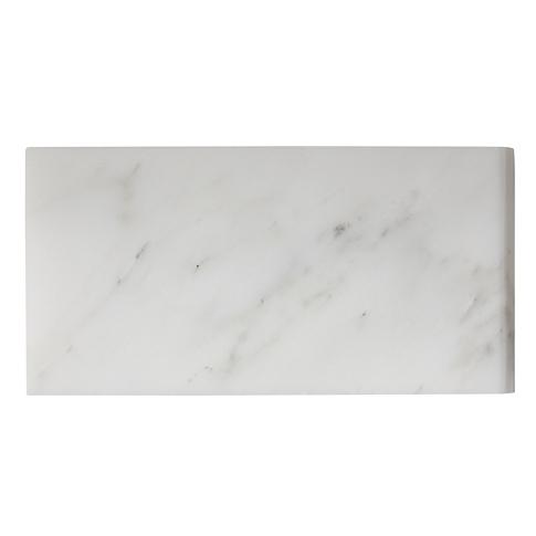 Hampton Carrara Polished Short Side Bullnose 3 x 6 in