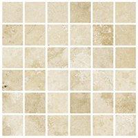 Bucak Light Walnut Honed Filled Travertine Mosaic Wall and Floor Tile - 2 x 2 in