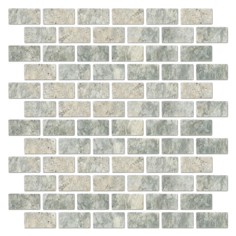 Claros Silver Tumbled Cardine 1 x 2 in