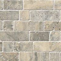 Claros Silver Broken Brick 12 x 12 in