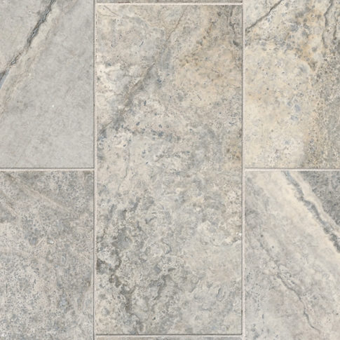 Claros Silver Honed Filled Travertine Wall Tile - 8 x 18 in.