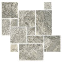 Claros Silver Honed Filled Large Versailles Pattern Travertine Floor Tile