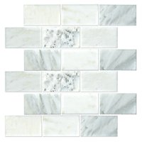 Hampton Carrara Polished Amalfi Marble Mosaic Tile - 12 x 12 in.