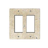Driftwood Double Rocker Switch Plate 5.5 x 4.5 in