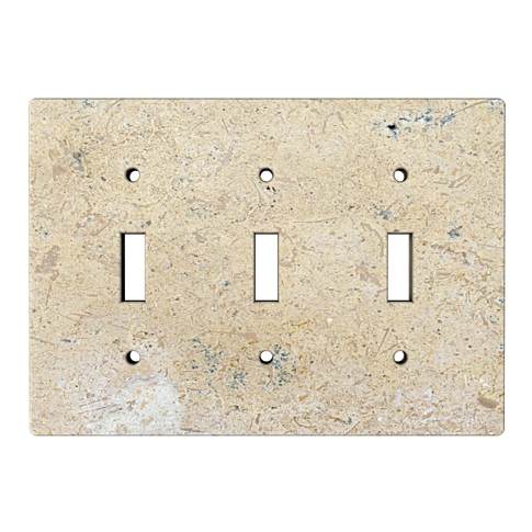 Driftwood Triple Toggle Switch Plate 6.375 x 4.5 in