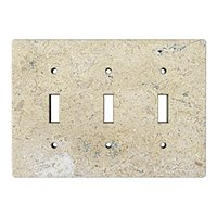 Driftwood Triple Toggle Switchplate 6.375 x 4.5 in