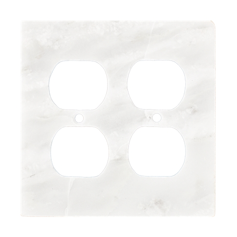 Lansdale Carrara Hampton Double Duplex Switch Plate 5.5 x 4.5 in