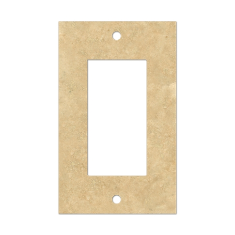 Bucak Light Walnut Rocker Switch Plate 2.75 x 4.5 in