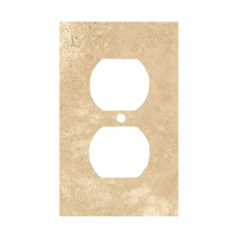 Bucak Light Walnut Duplex Switch Plate