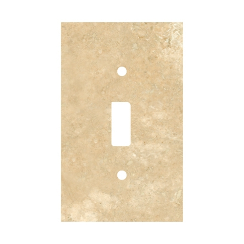 Bucak Light Walnut Toggle Switch Plate 2.75 x 4.5 in