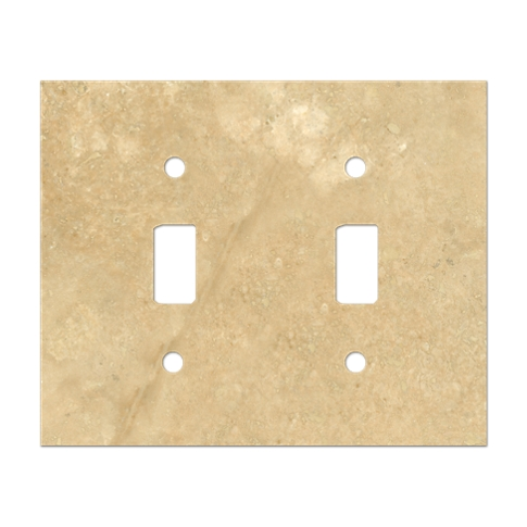 Bucak Light Walnut Double Toggle Switch Plate