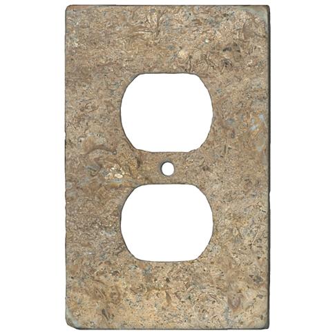 Bucak Dark Walnut Duplex Switch Plate