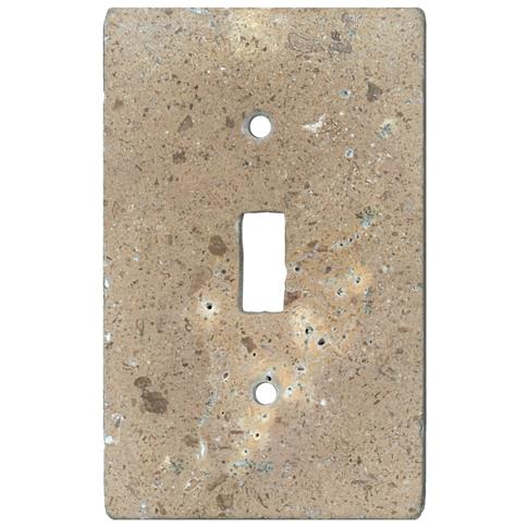 Bucak Dark Walnut Toggle Switch Plate 2.75 x 4.5 in