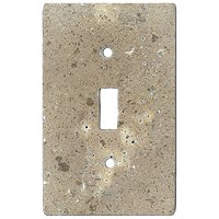 Bucak Dark Walnut Toggle Switch Plate 2.75 x 4.5 in