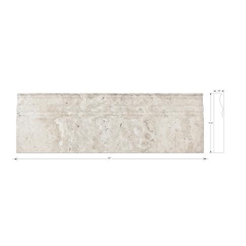 Chiaro Honed Filled Skirting 4.75 x 12 in