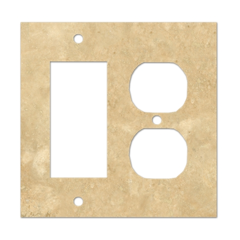 Bucak Light Walnut Rocker Duplex Switch Plate