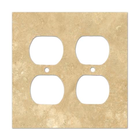 Bucak Light Walnut Double Duplex Switch Plate 5.5 x 4.5 in